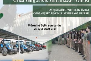 Azərbaycan Dövlət Aqrar Univeritetində ödənişsiz təkmilləşdirmə kurslarına qeydiyyat başlanıb